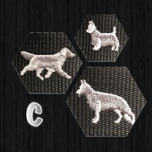 Halsband med hundraser på C