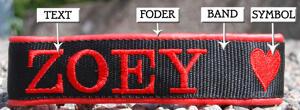 Halsband med hundraser på E & F