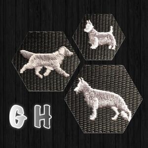 Halsband med hundraser på G & H