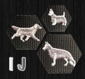 Halsband med hundraser på I & J