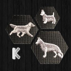 Halsband med hundraser på K