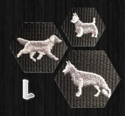 Halsband med hundraser på L