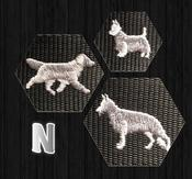 Halsband med hundraser på N