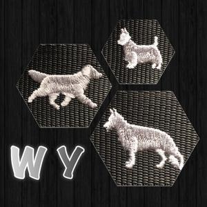 Halsband med hundraser på W & Y