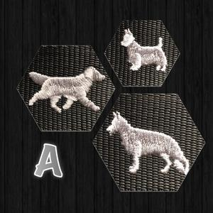 Halsband med hundraser på A